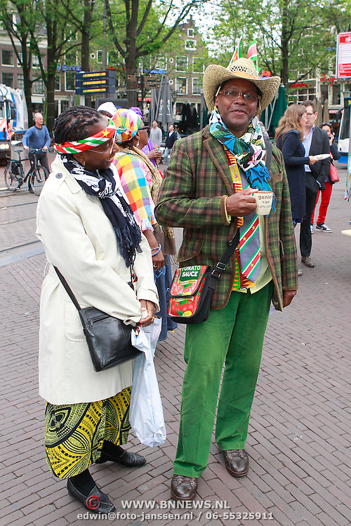 NLD/Amsterdam/20130701 - Keti Koti Ontbijt 2013 op het Leidse Plein,