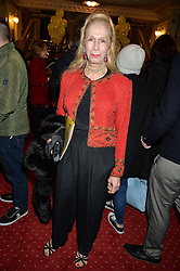 LADY COLIN CAMPBELL at Beautiful - The Carole King Musical 1st Birthday celebration evening at The Aldwych Theatre, London on 23rd February 2016.