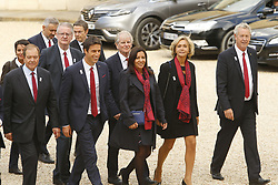 September 15, 2017 - Paris, France, France - Tony Estanguet - Anne Hidalgo - Valerie Pecresse - Guy Drut - Bernard Lapasset - Najat Vallaud Belkacem (Credit Image: © Panoramic via ZUMA Press)