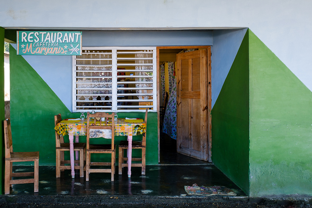 BARACOA, CUBA - CIRCA JANUARY 2020: House and local restaurant in Boca de Yumuri, a village close to Baracoa in Cuba.