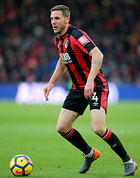 """AFC Bournemouth's Dan Gosling during the Premier League match at the Vitality Stadium, Bournemouth. PRESS ASSOCIATION Photo. Picture date: Saturday March 17, 2018. See PA story SOCCER Bournemouth. Photo credit should read: Mark Kerton/PA Wire. RESTRICTIONS: EDITORIAL USE ONLY No use with unauthorised audio, video, data, fixture lists, club/league logos or """"live"""" services. Online in-match use limited to 75 images, no video emulation. No use in betting, games or single club/league/player publications."""
