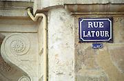 Rue latour nearQua des Chartrons. Bordeaux city, Aquitaine, Gironde, France