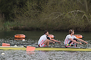 Caversham. Berkshire. UK<br /> Men's pair, Barnaby STENTIFORD and Adam NEILL, competing at the 2016 GBRowing U23 Trials at the GBRowing Training base near Reading, Berkshire.<br /> <br /> Monday  11/04/2016 <br /> <br /> [Mandatory Credit; Peter SPURRIER/Intersport-images]