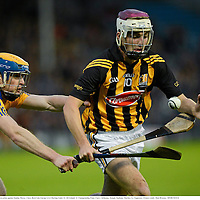 15 September 2012; Kevin Kelly, Kilkenny, in action against Seadna Morey, Clare. Bord Gáis Energy GAA Hurling Under 21 All-Ireland 'A' Championship Final, Clare v Kilkenny, Semple Stadium, Thurles, Co. Tipperary. Picture credit: Matt Browne / SPORTSFILE
