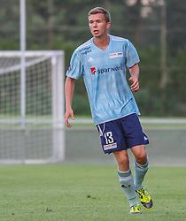 Alexander Olsen (FC Helsingør) under træningskampen mellem FC Helsingør og IS Halmia (Sverige) den 24. juli 2012 på Helsingør Stadion (Foto: Claus Birch).