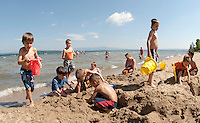 "(Karen Bobotas/for the Laconia Daily Sun)A great day to ""beat the heat""  and enjoy the lake at Ellacoya State Beach Friday, July 22, 2011."