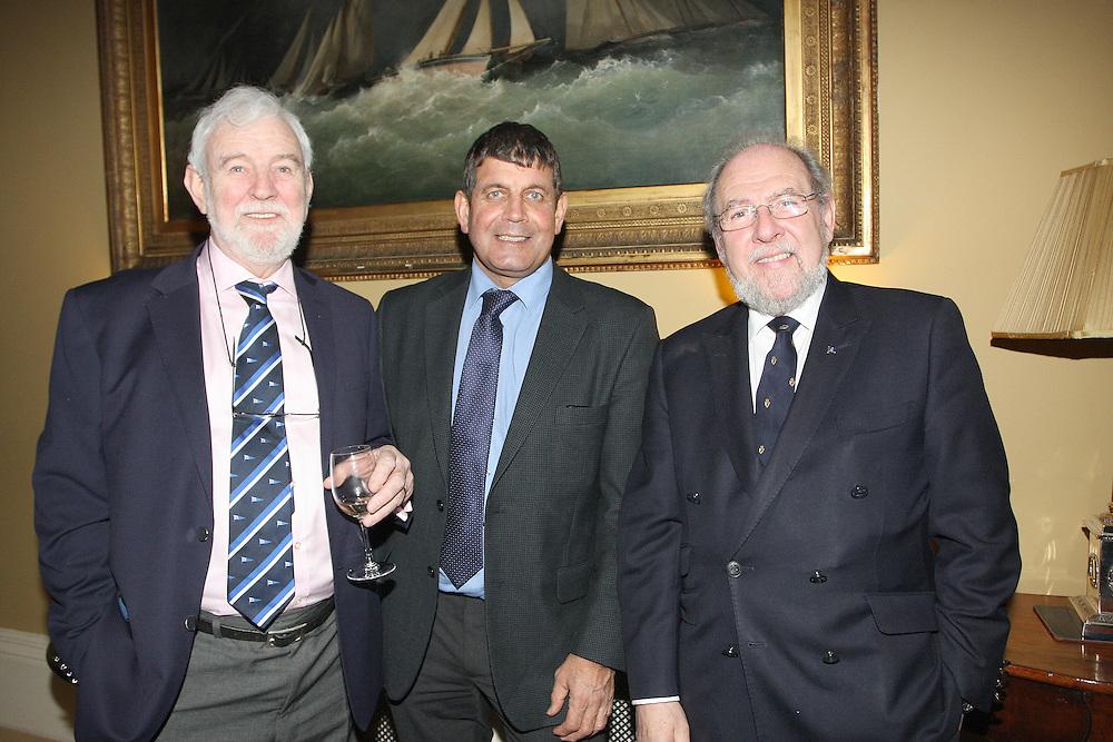 Theo Phelan Race Organiser, Deputy Andrew Doyle TD, James Horan Commodore Royal Irish YC  at the launch of 18th Volvo 2016 Round Ireland Yacht Race which was held in the Royal Irish Yacht Club.<br />Photo Ann Egan