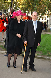 LADY ANTONIA FRASER and SIR HAROLD PINTER at the wedding of Clementine Hambro to Orlando Fraser at St.Margarets Westminster Abbey, London on 3rd November 2006.<br /><br />NON EXCLUSIVE - WORLD RIGHTS