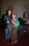Rupert and Candida Lycett-Green, Planet Potato, Bush Hall, 310 Uxbridge Rd. 17 June 2004. ONE TIME USE ONLY - DO NOT ARCHIVE  © Copyright Photograph by Dafydd Jones 66 Stockwell Park Rd. London SW9 0DA Tel 020 7733 0108 www.dafjones.com
