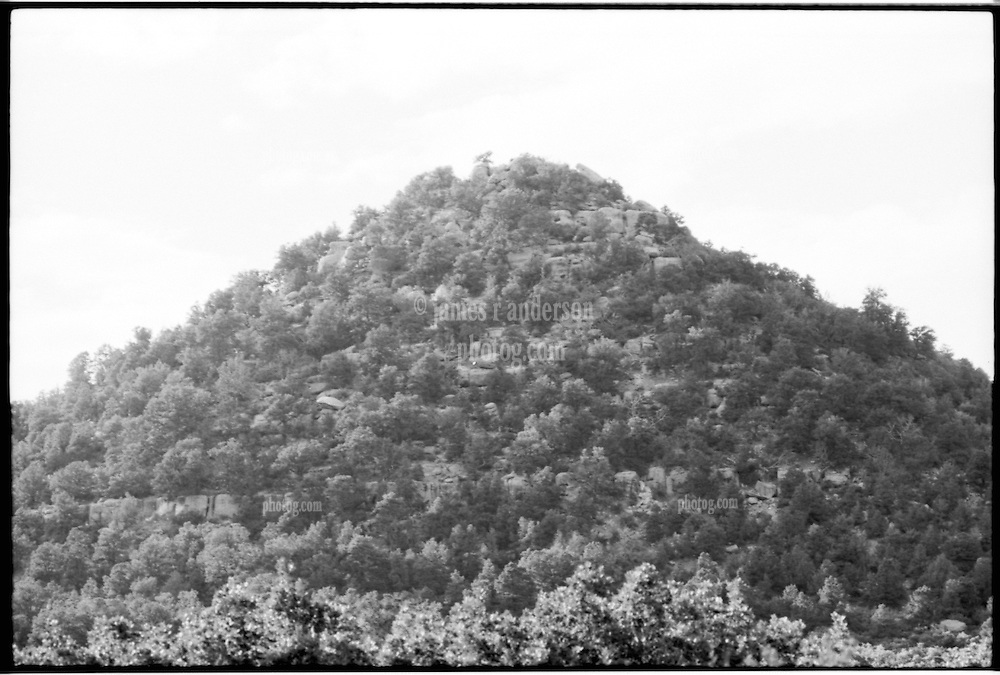 Mesa Verde National Park, Colorado, B&W photograph of Pyramid Mountain. Shot on Panatomic-X film, Nikon Ftn Camera, 125th sec f/4, Nikkor lens 105/2.5.