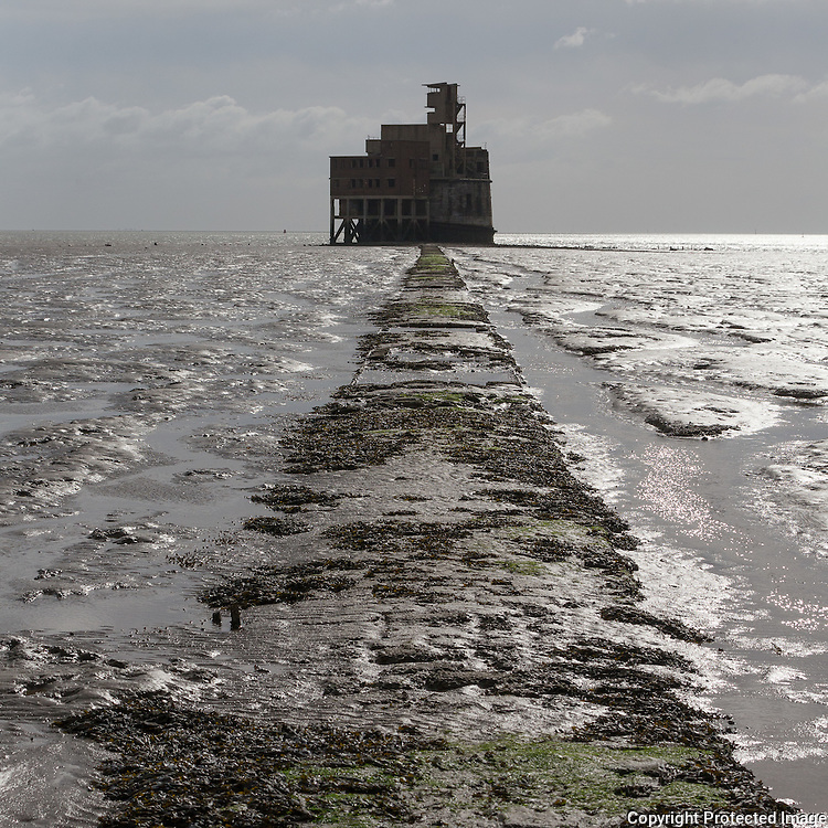 """Grain Tower Battery I. Only accessible at low tide. During During WW2 this remodelled Martello Tower was manned and had three guns on the roof. The address is """"No 1, Thames"""""""