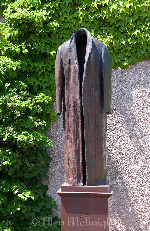 "Bronze sculpture ""Post-Balzac"" by American artist, Judith Shea. Created in 1991 and acquired by the Hirshorn Sculpture Garden in Wasghington DC."