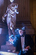 ED BEGLEY, Ball at to celebrateBlanche Howard's 21st and  George Howard's 30th  birthday. Dress code: Black Tie with a touch of Surrealism. Castle Howard. Yorkshire. 14 November 2015