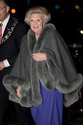 Nederland bedankt Beatrix in Ahoy ,Rotterdam. Nederlanders brengen een muzikale ode als dank voor 33 jaar koningschap.<br /> <br /> The Netherlands thanks Beatrix in Ahoy, Rotterdam. Dutch pay a musical tribute of thanks for 33 years of reign.<br /> <br /> Op de foto / On the photo: <br />  Prinses Beatrix / Princess Beatrix
