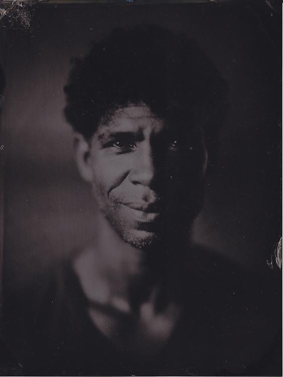 Carlos Acosta, principal ballet dancer, Royal Opera House, London, wetplate collodion tintype portrait