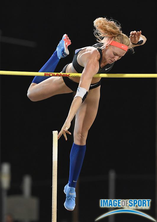 Sandi Morris (USA) wins the women's pole vault at 15-10 1/2 (4.84m) in the 2018 IAAF Doha Diamond League meeting at Suhaim Bin Hamad Stadium in Doha, Qatar, Friday, May 4, 2018. (Jiro Mochizuki/Image of Sport)