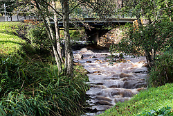 Cape Town - 180702 - Strong rains overnight as a result of a cold front hitting Cape Town, resulted in the Liesbeek River in Newlands flowing a lot faster than normal. Picture: David Ritchie/African News Agency/ANA