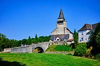 France, Pyrénées-Atlantiques (64), Pays Basque, Ordiarp, église Saint-Michel d'Ordiarp, église romane du XIIe siècle // France, Pyrénées-Atlantiques (64), Basque Country, Ordiarp, Saint-Michel d'Ordiarp church, 12th century Romanesque church