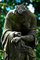 Headless Statue with a Cross, Cemetery in Aberdeen, Scotland