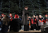 Pine Bush, NY - The Middletown Chorale performs at the Pine Bush Festival of Lights holiday celebration on the evening of Dec. 1, 2008.