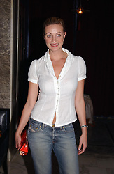 Actress ELIZE DU TOIT from Hollyoaks at a party to celebrate the launch of Michelle Watches held at the Blue Bar, The Berkeley Hotel, London on 7th October 2004.<br /><br />NON EXCLUSIVE - WORLD RIGHTS