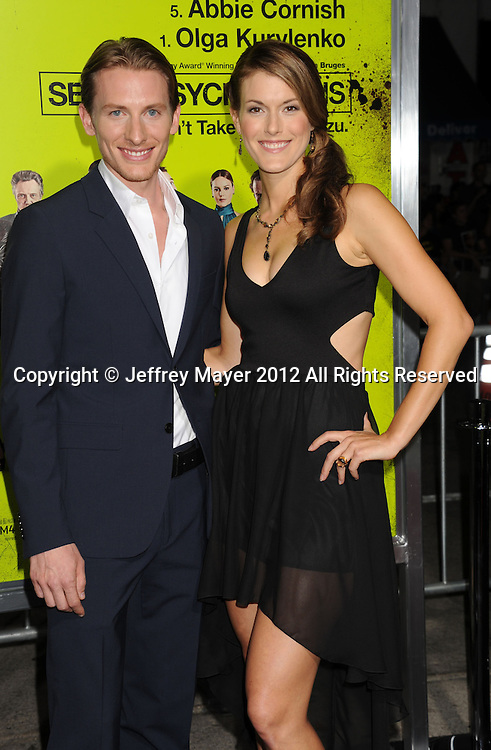 WESTWOOD, CA - OCTOBER 01: James Hebert and Abigail Carpenter. arrive at the Los Angeles premiere of 'Seven Psychopaths' at Mann Bruin Theatre on October 1, 2012 in Westwood, California.