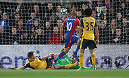 Crystal Palace's Andros Townsend scoring his sides opening goal during the Premier League match at Selhurst Park Stadium, London. Picture date: April 10th, 2017. Pic credit should read: David Klein/Sportimage
