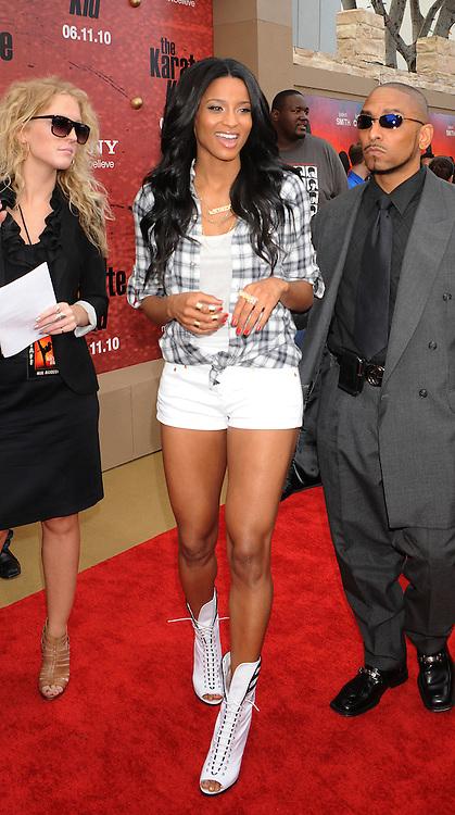 "WESTWOOD, CA. - June 07: Ciara arrives at ""The Karate Kid"" Los Angeles Premiere at Mann Village Theatre on June 7, 2010 in Westwood, California."