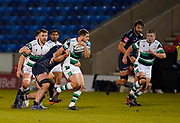 Newcastle Falcons wing Ben Stevenson makes a break during a Gallagher Premiership Round 12 Rugby Union match, Friday, Mar 05, 2021, in Eccles, United Kingdom. (Steve Flynn/Image of Sport)