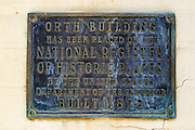 Orth Building historic plaque, Jacksonville, Oregon USA