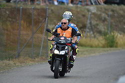 August 5, 2018 - Brno, Brno, Czech Republic - 36 Spanish driver Joan Mir of Team EG 0,0 Marc VDS go to box after crash during race in Brno Circuit for Czech Republic Grand Prix in Brno Circuit on August 5, 2018 in Brno, Czech Republic. (Credit Image: © Andrea Diodato/NurPhoto via ZUMA Press)