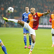 Galatasaray's Felipe Melo De Carvalho during their UEFA Champions League Round of 16 First leg soccer match Galatasaray between Chelsea at the AliSamiYen Spor Kompleksi in Istanbul, Turkey on Wednesday 26 February 2014. Photo by Aykut AKICI/TURKPIX
