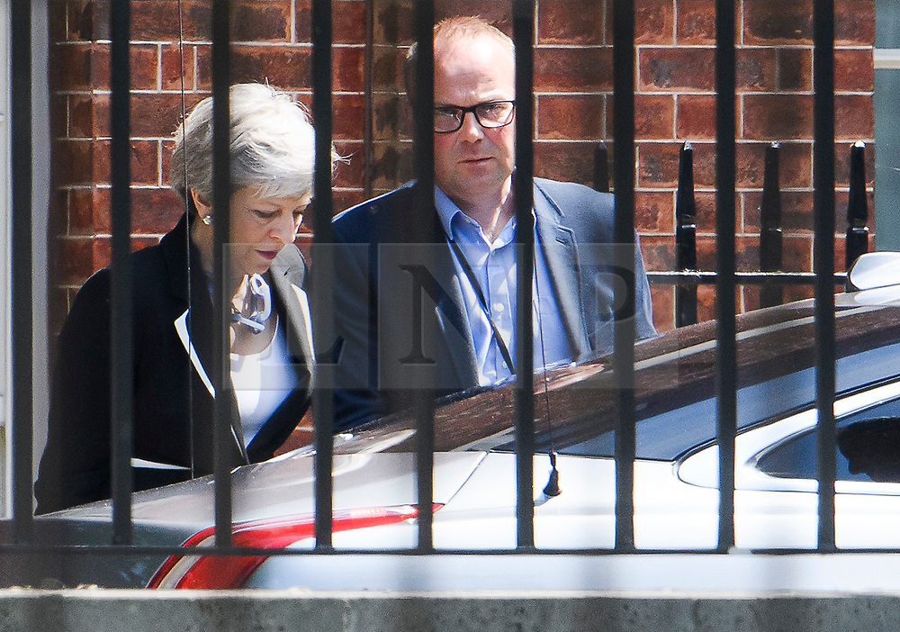 © Licensed to London News Pictures. 23/05/2019. London, UK. British PM THERESA MAY is seen leaving Downing Street. Today UK citizens will controversially go to the polls in the European elections, three years after a majority voted to leave the EU. Photo credit: Ben Cawthra/LNP