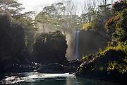 Pe'epe'e Falls, Wailuku River. Boiling Pots, The Big Island of Hawaii