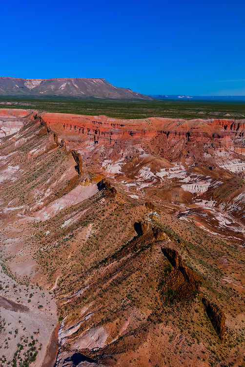 Aerial view of Devil's Playground, a secluded canyon with no access by road, near Big Bend National Park, Texas USA.