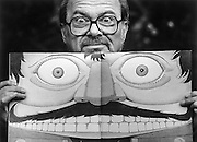 """Author Maurice Sendak, who wrote and illustrated the childrens' classic """"Where the Wild Things Are"""". This is a self-portrait he sneaked into a recent book."""
