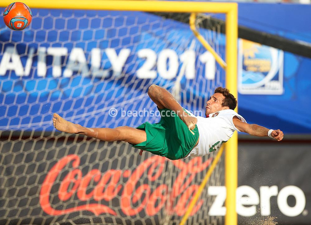 RAVENNA, ITALY - SEPTEMBER 05: FIFA Beach Soccer World Cup at the Stadium del Mare on September 5, 2011 in Ravenna, Italy. (Photo by Manuel Queimadelos)