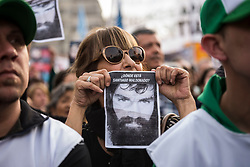 INT. 2017 September 1. Buenos Aires City, Argentina.- Thousands (250 thousands) of people claim on 2017, September 1, at Plaza de Mayo -Buenos Aires City, Argentina- to the National Government the appearance alive of Santiago Maldonado. This young man disappeared on 2017, August 1 after gendarmerie suppressed a Mapuche protest at the argentina´s province of Chubut.