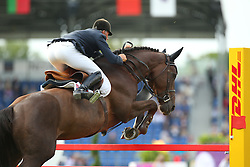 Hurel Jerome, (FRA), Quartz Rouge<br /> Team Competition round 1 and Individual Competition round 1<br /> FEI European Championships - Aachen 2015<br /> © Hippo Foto - Stefan Lafrentz<br /> 19/08/15