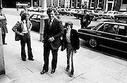 Edward Kennedy and his son pay a courtsy visit to Government Buildings. <br /> 01/07/1974