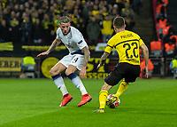 Football - 2018 / 2019 UEFA Champions League - Round of Sixteen, First Leg: Tottenham Hotspur vs. Borussia Dortmund<br /> <br /> Christian Pulisic (Borussia Dortmund) runs himself into a dead end as he takes on Toby Alderweireld (Tottenham FC) at Wembley Stadium.<br /> <br /> COLORSPORT/DANIEL BEARHAM