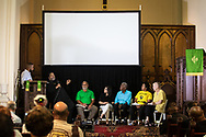 Larry Sorapuru, Ruhan Nagra, Robert Taylor, Sharon Lavinge and Wilma Subra on a pannel with Rev. William Barber, head of the Poor Peoples Campaing at a pannel organized by the Guardian in New Orleans.