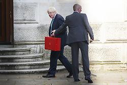 July 4, 2017 - London, London, UK - London, UK. Foreign Secretary BORIS JOHNSON attends a cabinet meeting in Downing Street, London on Tuesday, 4 July 2017. (Credit Image: © Tolga Akmen/London News Pictures via ZUMA Wire)