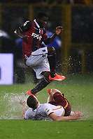 Edin Dzeko Roma, Godfred Donsah Bologna <br /> Bologna 21-11-2015 Stadio Dall'Ara Football Calcio 2015/2016 Serie A Bologna - AS Roma Foto Andrea Staccioli / Insidefoto