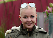 © Licensed to London News Pictures. 02/07/2012. East Molesey, UK Gail Porter. The RHS Hampton Court Palace Flower Show 2012. The show runs 3-8 July, 2012. Photo credit : Stephen Simpson/LNP