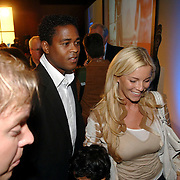NLD/Amsterdam/20060529 - Boekpresentatie autobiografie van Patrick Kluivert, Patrick, ex vrouw Angela Kluivert