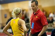 Simpson College, High Jump, Kinsey Bak w/ coach.