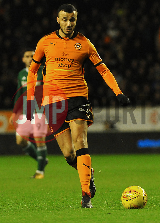 Romain Saiss of Wolverhampton Wanderers- Mandatory by-line: Nizaam Jones/JMP - 02/01/2018 - FOOTBALL - Molineux - Wolverhampton, England- Wolverhampton Wanderers v Brentford -Sky Bet Championship