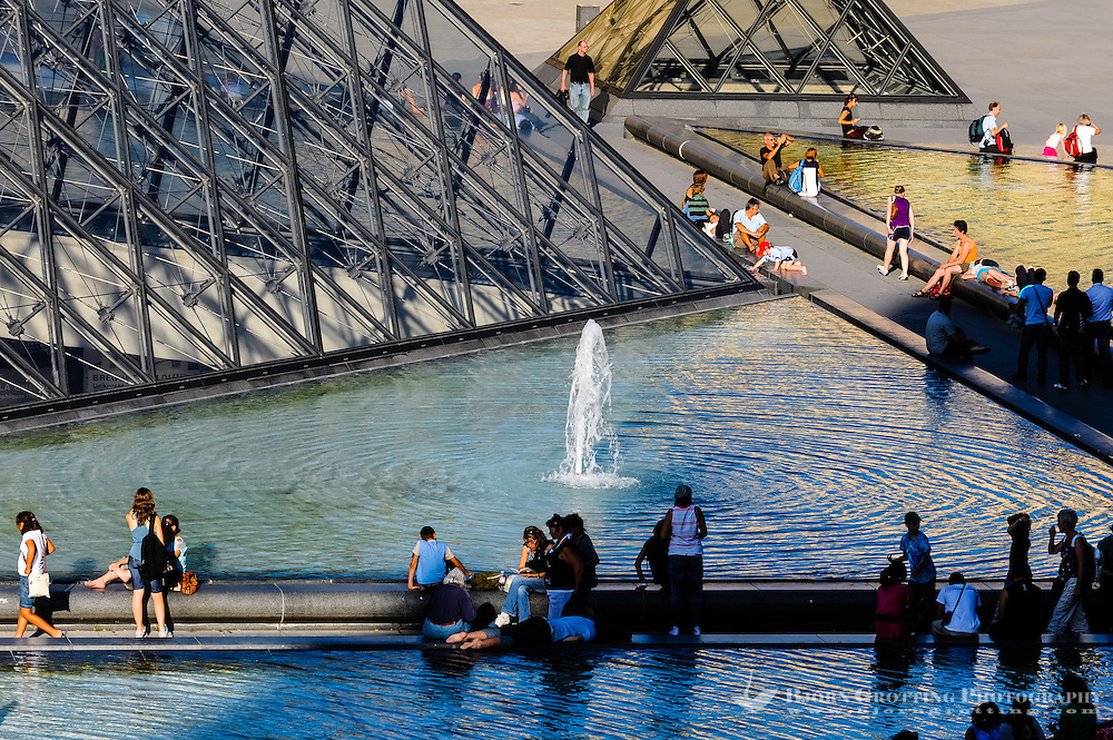 Paris, France. The Musée du Louvre is one of the world's largest museums and the most visited art museum in the world. The Louvre Pyramid serves as the entrance.