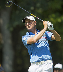 May 26, 2018 - Fort Worth, TX, USA - FORT WORTH, TX - MAY 26, 2018 - Emiliano Grillo tees off on #12 during the third round of the 2018 Fort Worth Invitational PGA at Colonial Country Club in Fort Worth, Texas (Credit Image: © Erich Schlegel via ZUMA Wire)